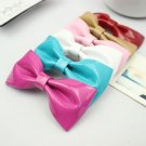 A Pair of Color Bow Plastic PU Faux Leather Fashion Sweat Candy Shoe Clips