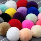 LOT OF 10 Faux fur Pom Pom Furry Large Rabbit Fur Balls Pom Pom Craft DIY 7- 8cm