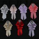 Pearl Rhinestone Dangle Wedding Men Pre Tied Pink Purple Bow Tie Neck Tie