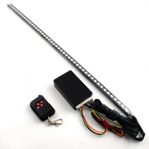 Attractive 7-Color 48 SMD RGB LED Strip Light 22 In. & RC For Body Trunk Interior Hood Seat Lighting