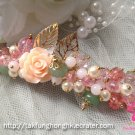 Fancy floral jewelry hair clip