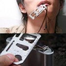 11 in 1 cool card (bottle opener, blade, tin opener, saw, wrench, hole, ruler, screwdriver)