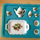 Cute Mini dollhouse Tea Set C plate ceramic porcelain china Pullip Blythe Collectibles Tak Fung Hong