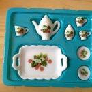 Cute Mini dollhouse Tea Set C plate ceramic porcelain china Pullip Blythe Collectibles Tak Fung Hong