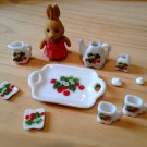Cute Mini dollhouse Tea Set B tray ceramic porcelain china Pullip Blythe Collectibles Tak Fung Hong