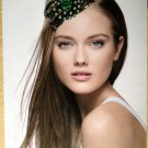 Green Crystal Rose floral flower Hair Claw clip Tak Fung Hong HK