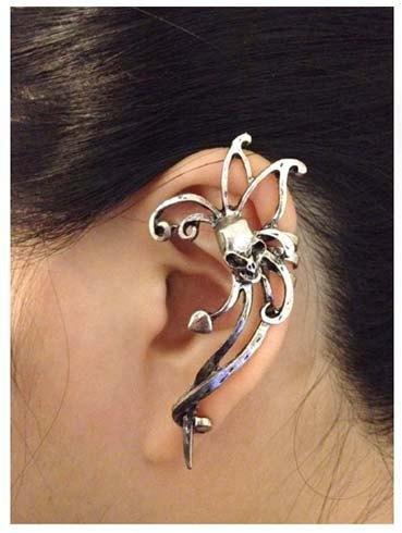 Human Skull Ear Cuff Earring II Tak Fung Hong Hk
