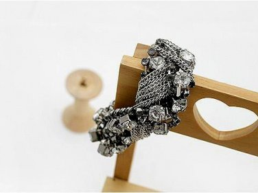 Black Rinestone Bangle Bracelet Tak Fung Hong Hk