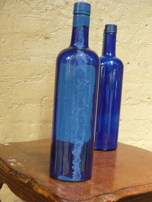 """Altered Skyy Bottle - """"Sandy Blue"""""""