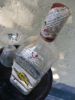 "Altered Jose Cuervo Bottle - ""Tradition Especial 3"""