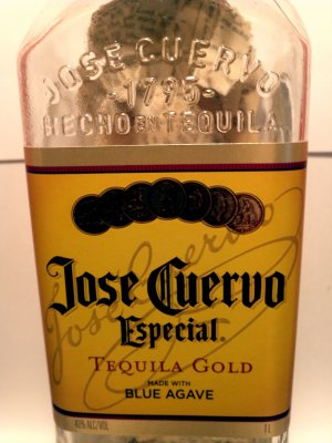 """Altered Cuervo Bottle - """"Tradition Especial 2"""""""