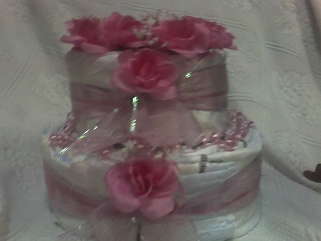 2 TIER PINK CAKE