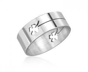 Stainless Steel Men's Good Luck Ring
