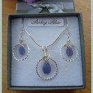 Tanzanite Pendant, wire-wrapped in Sterling Silver, December birthstone, with chain