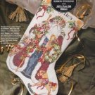 Bucilla Old World Santa Silk Ribbon Stocking Embroidery Cross Stitch Kit 1990's