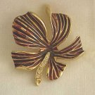 Goldtone Brooch with Rhinestones