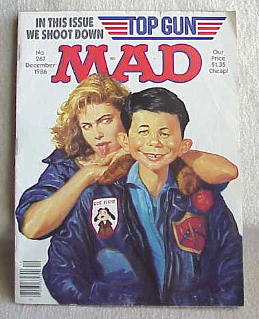 MAD Magazine Vol 267, December, 1986 Top Gun - Memory Lane Collectibles