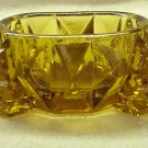 Amber Glass Open Salt Cellar - Very Old - Memory Lane Collectibles
