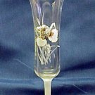 Clear & Frosted Iris Bud Vase - Memory Lane Collectibles