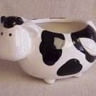 Small Black & White Cow Planter - Memory Lane Collectibles