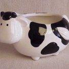 Small Black & White Cow Planter - Memory Lane Collectibles