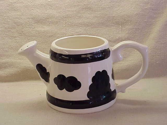 Black & White Cow Pattern on a Watering Pail - Memory Lane Collectibles