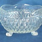 Indiana Glass Diamond Point Three-Toed Bowl - Memory Lane Collectibles