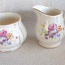 Sadler of England Creamer & Sugar - Rose Design  --- Memory Lane Collectibles