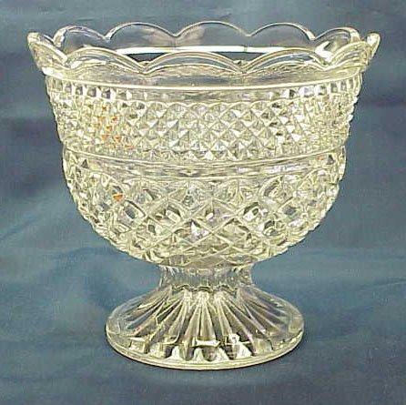 Vintage Anchor Hocking Wexford Pedestal Bowl - Memory Lane Collectibles