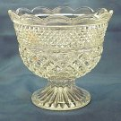 Vintage Anchor Hocking Wexford Pedestal Bowl - Memory Lane Collectibles
