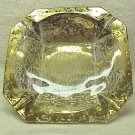 Gold Flecked Clear Glass Ashtray - Memory Lane Collectibles