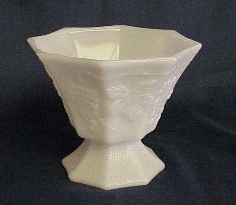 Milk Glass Compote - Memory Lane Collectibles