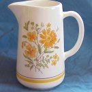 Lovely White Pitcher with Perky Orange, Yellow Flowers - Memory Lane Collectibles