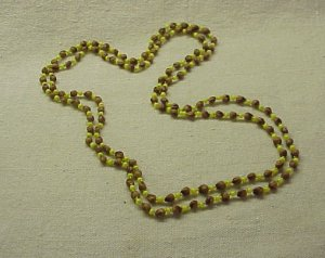 Wood and Plastic Bead Necklace - FREE SHIPPING -  Memory Lane Collectibles