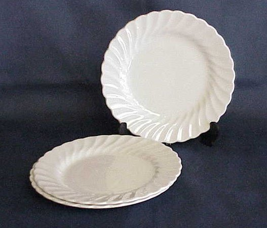 Johnson Brothers Snowhite Regency Bread & Butter Plates - Memory Lane Collectibles