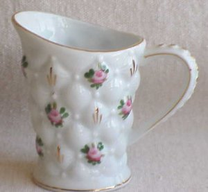 Quilted Pattern with Roses Cream Pitcher - Memory Lane Collectibles