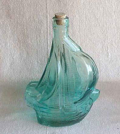 Anchor Hocking Santa Maria Commerative Bottle - Memory Lane Collectibles
