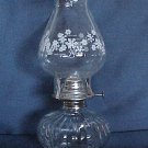 Pretty Snowflakes on Chimney Oil Lamp
