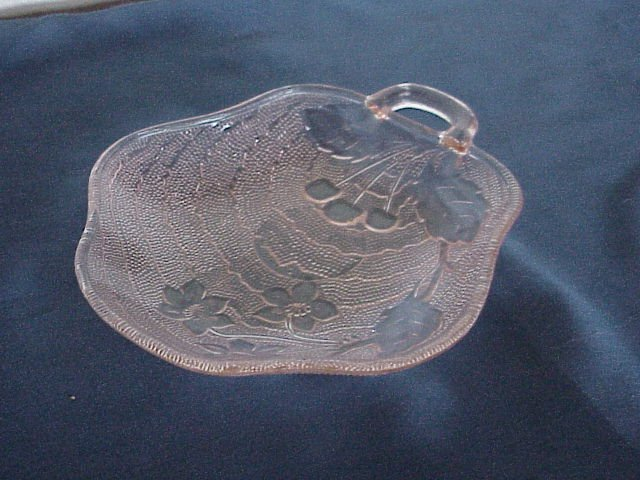 Pink Pressed Sandwich Glass Candy Dish