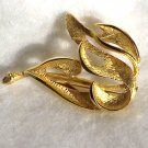 Goldone Leaf  Brooch