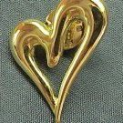 Bright & Shiny Goldtone Heart Tack Pin