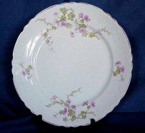 Pope Gosser Luncheon Plate - Dainty Pink Flowers