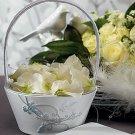 Love Bird in Classic White Flower Girl Basket