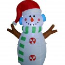 5 Foot Tall Lighted Christmas Inflatable Snowman Yard Decoration