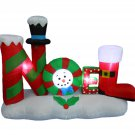 4 Foot Tall Lighted Christmas Inflatable Noel Yard Decoration #258