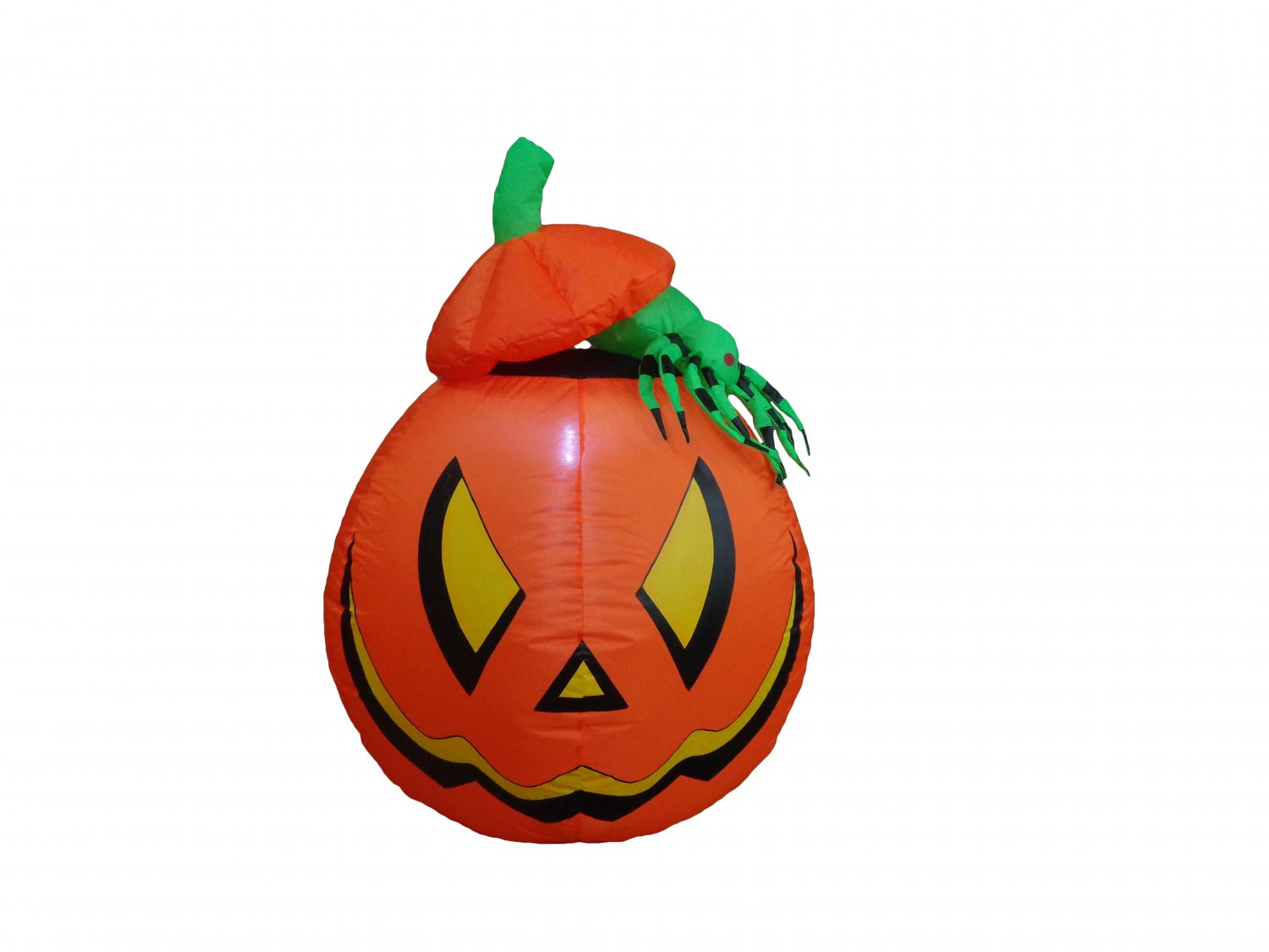 4 Foot Halloween Inflatable Lighted Pumpkin Jack-o-lanterns with Spider Yard Art Decoration #283