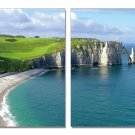 By the Sea, Gallery Wrapped Diptychs 2 Panel Modern Wall Art Decoration #600212