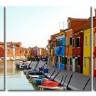 City View, Gallery Wrapped Triptychs 3 Panel Modern Wall Art Decoration #216