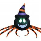 8 Foot Long Halloween Inflatable Spider with Hat Decoration