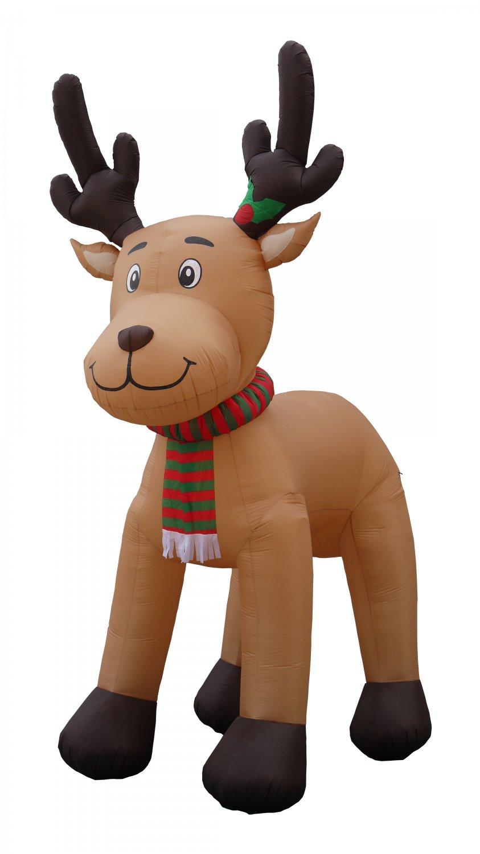15 FOOT Christmas Inflatable Reindeer Moose Outdoor Garden Decoration Balloon #156